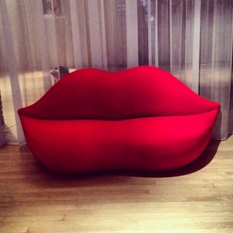couch lips home accessory sofa