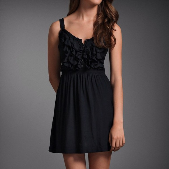 dress summer dress black abercrombie&fitch