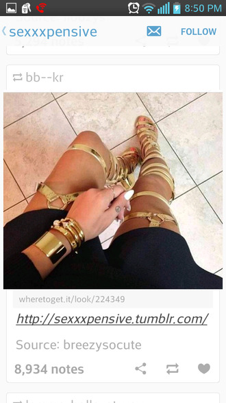 shoes sandals sandal heels gold gold sandals knee high sandal heel