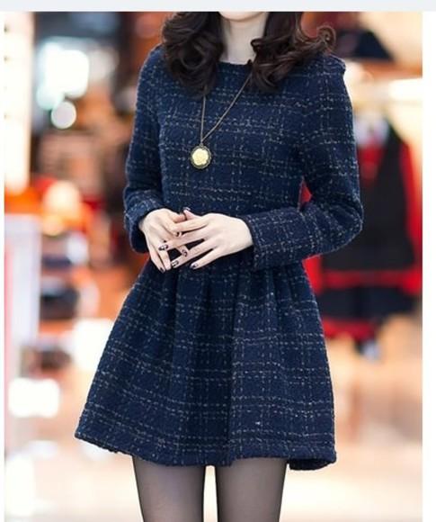 formal dress cute dress winter outfits dark blue