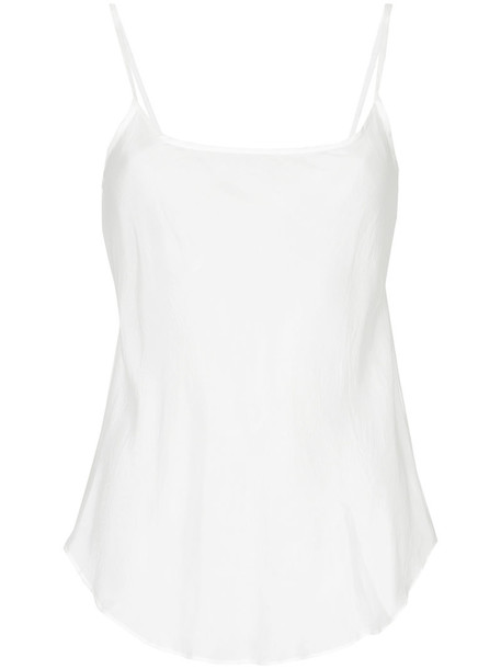 top women white silk