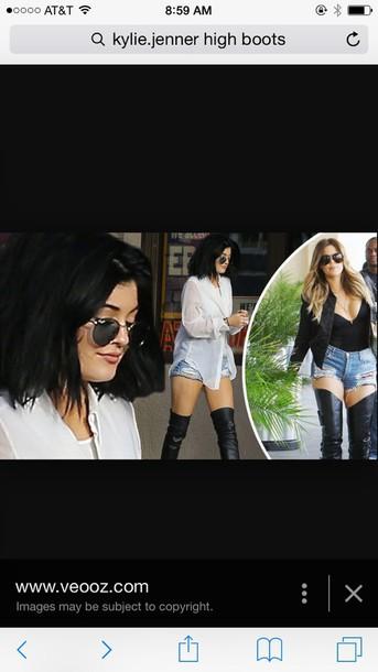 black kylie jenner khloe kardashian boots