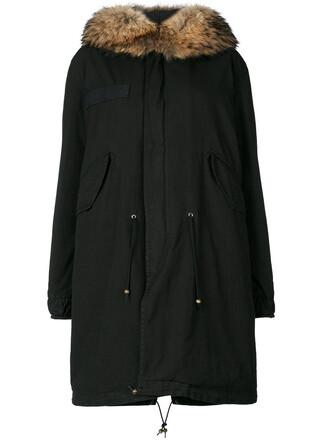 parka fur women cotton black coat