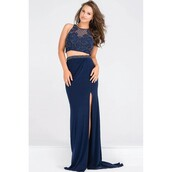 dress,bodice,embellished,designer bag,slit dress,jovani prom dress