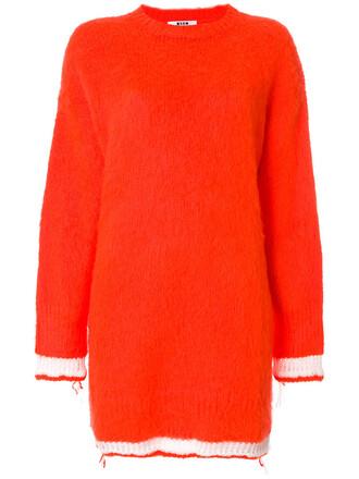 dress sweater dress women mohair yellow orange
