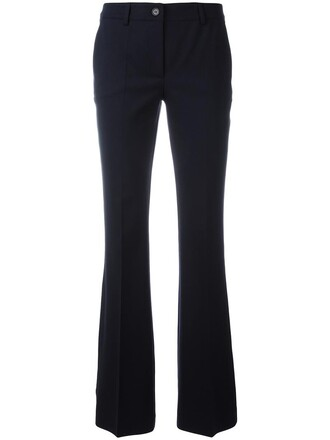 women spandex blue wool pants