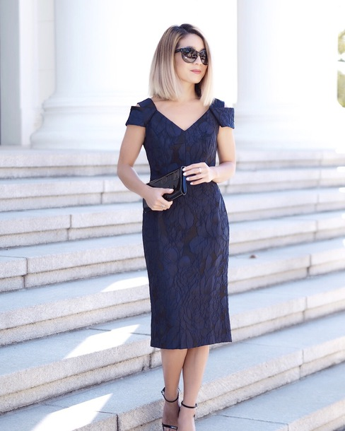 laminlouboutins blogger dress shoes bag coat sunglasses fall outfits blue dress cocktail dress clutch sandals