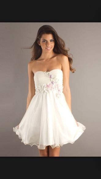 dress white flowers pretty floral dress