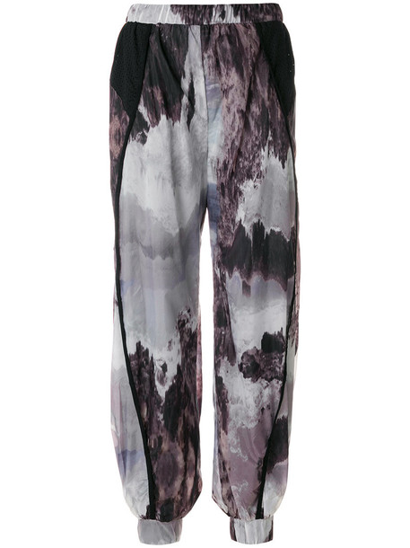 Diesel - patterned loose fit trousers - women - Nylon/Polyester - S, Nylon/Polyester