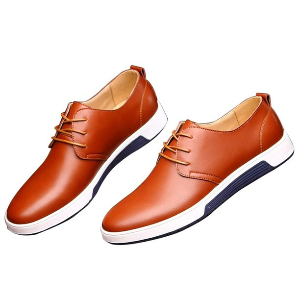 shoes mens  qco business lace-up oxfords brown