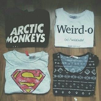 shirt arctic monkeys cute superman adorable outfit