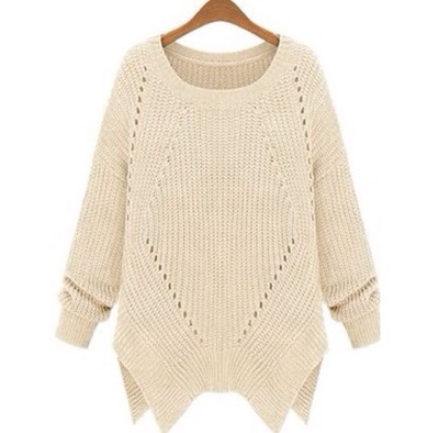 Knitted asymmetrical hem sweater · doublelw · online store powered by storenvy