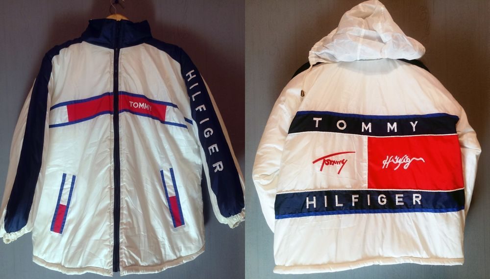 Tommy Hilfiger Vintage Jacket Big Logo Size M