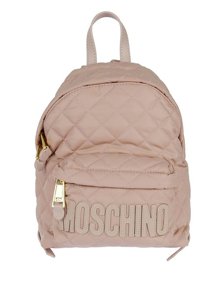 quilted backpack pink bag