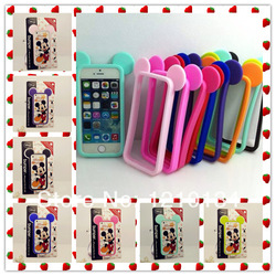 Online Shop 9 Colors iJacket Soft Silicon Mickey Mouse Bumper for iPhone 5 5S cartoon Bumper Case, lowest price, 5pcs/lot|Aliexpress Mobile