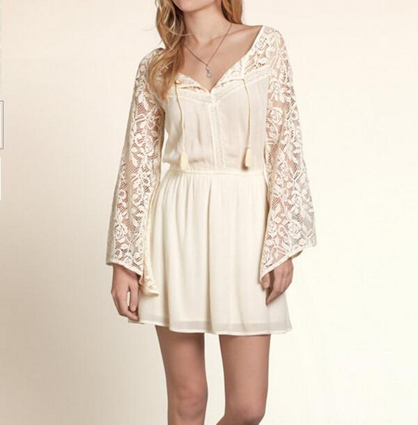 dress shanghaitrends tunic tunic dress lace dress lace beige beige dress ss16