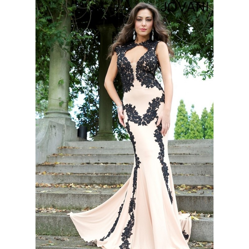 Jovani 89902 Stunning Jersey Gown 2018 Spring Trends Dresses