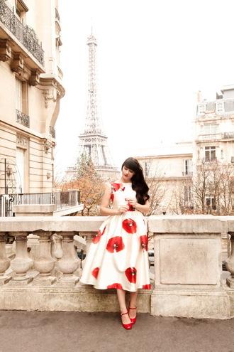 the cherry blossom girl blogger dress shoes make-up