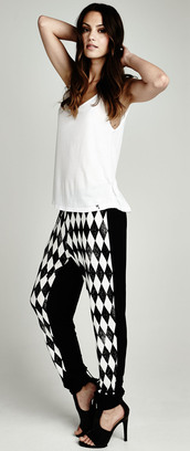 michael lauren,lauren moshi,divergence clothing,black and white pants,harem pants,baggy pants,online shopping