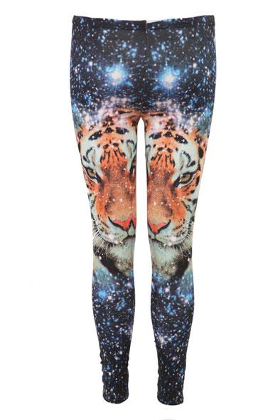 Loreen Print M/L Snowflake Tiger Legging in Print