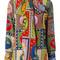 Gucci - print neck bow shirt - women - silk - 40, silk