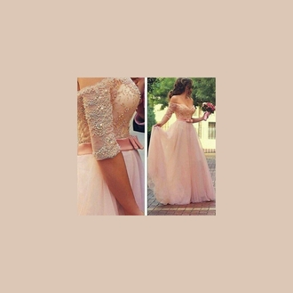 dress rose tull glitter prom dress