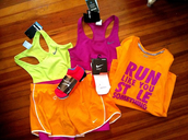 shorts,just do it,workout,colorful,run like you stole something,quote on it,sportswear,tank top
