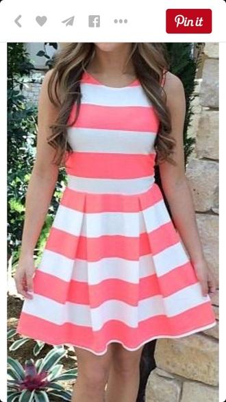 dress pink dress white dress striped dress