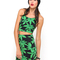 Buy motel fonda halter crop in green palm leaf at motel rocks
