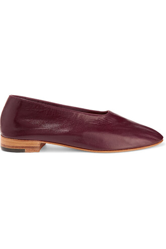 pumps leather burgundy shoes