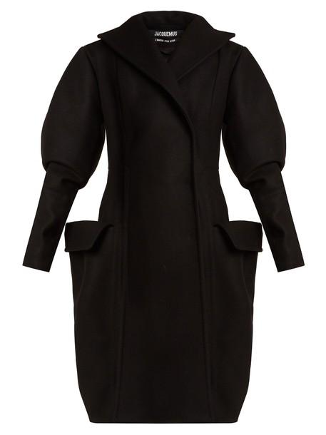 Jacquemus coat wool coat wool black
