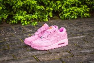 shoes nike air max 90 shanghai pink pink sneakers dope pink pastel pink
