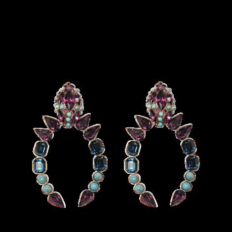 Roberto Cavalli SnakeStones earrings  - MONNIER Frères