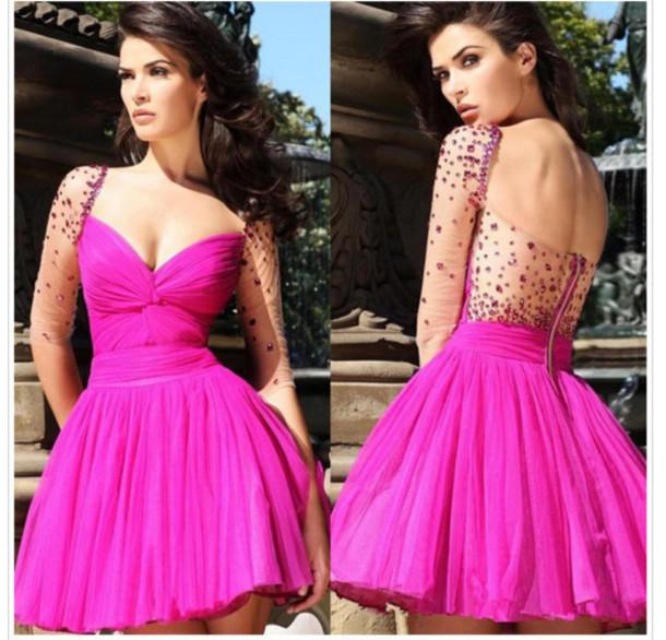 dress, prom dress, cute, babydoll, babydoll prom dresd, sequins ...