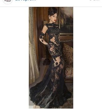dress gown lace dress