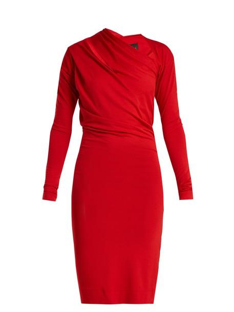 dress jersey dress red