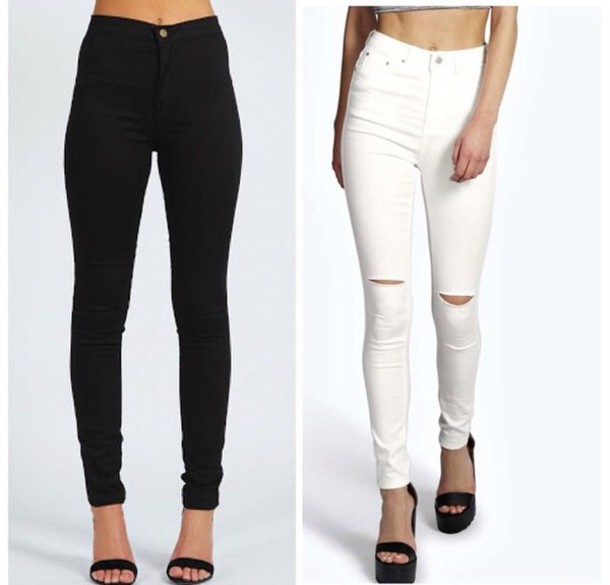 High Waisted Black Jeggings - Shop for High Waisted Black Jeggings
