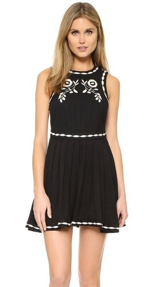 dress mini dress birds mini black