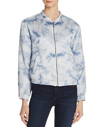 Flo Bomber Jacket in Tie-Dye Silk - Rosie HW x PAIGE | Bloomingdale's