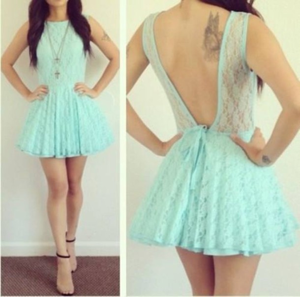 dress prom dress cute cute dress swag vintage cool turquoise hipster ...