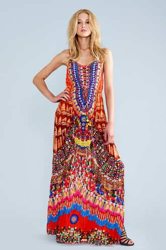 dress red long dress handmade luxury parides bikiniluxe