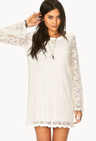 Boho Doll Crochet Shift Dress | FOREVER21 - 2000065723