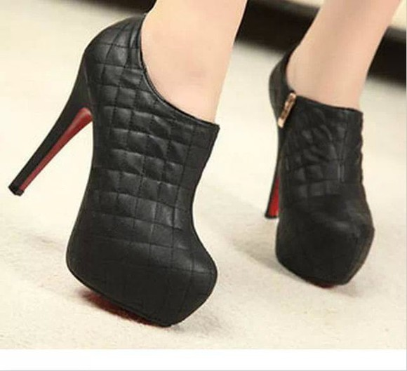 zipper shoes high heels
