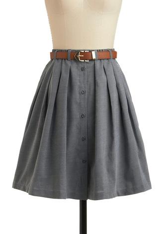 skirt button up chambray belted blue grey button up skirt belt