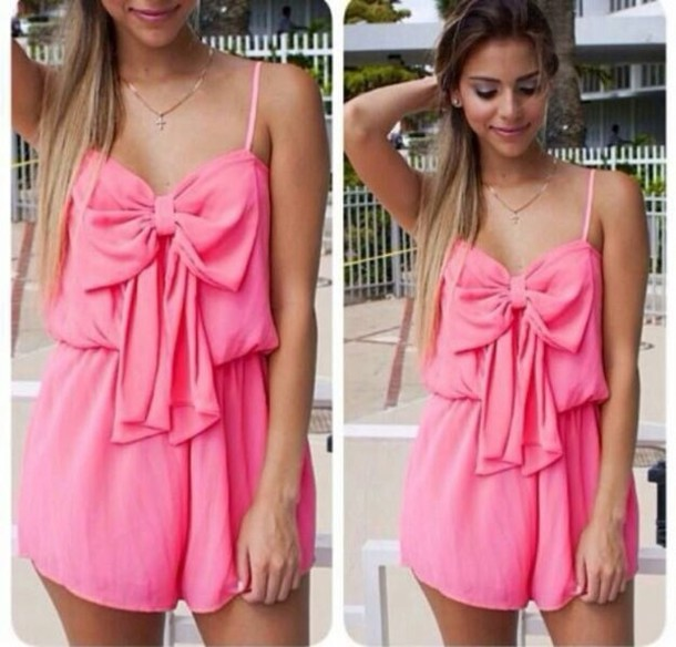 Dress: pink, sexy, summer, sun, romper, jumpsuit - Wheretoget
