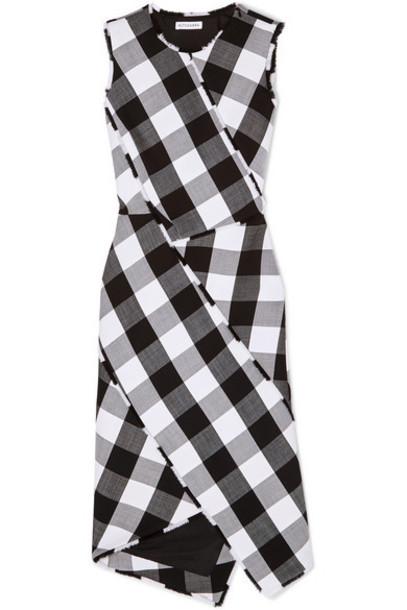 Altuzarra - Gina Gingham Wool-blend Twill Dress - Black