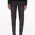 gareth pugh charcoal and silver faille embroidered trousers