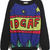 Black Blue Long Sleeve Stars IDGAF Print Sweatshirt - Sheinside.com