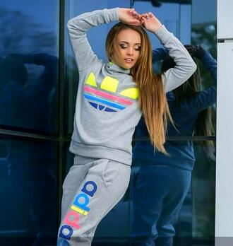 jumpsuit adidas adidas tracksuit bottom adidas jacket adidas pants pants hoodie tracksuit sportswear outfit