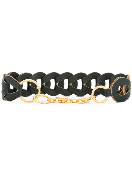 MARNI women belt leather black